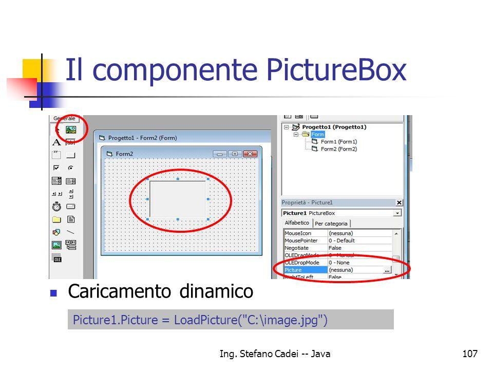 Il componente PictureBox
