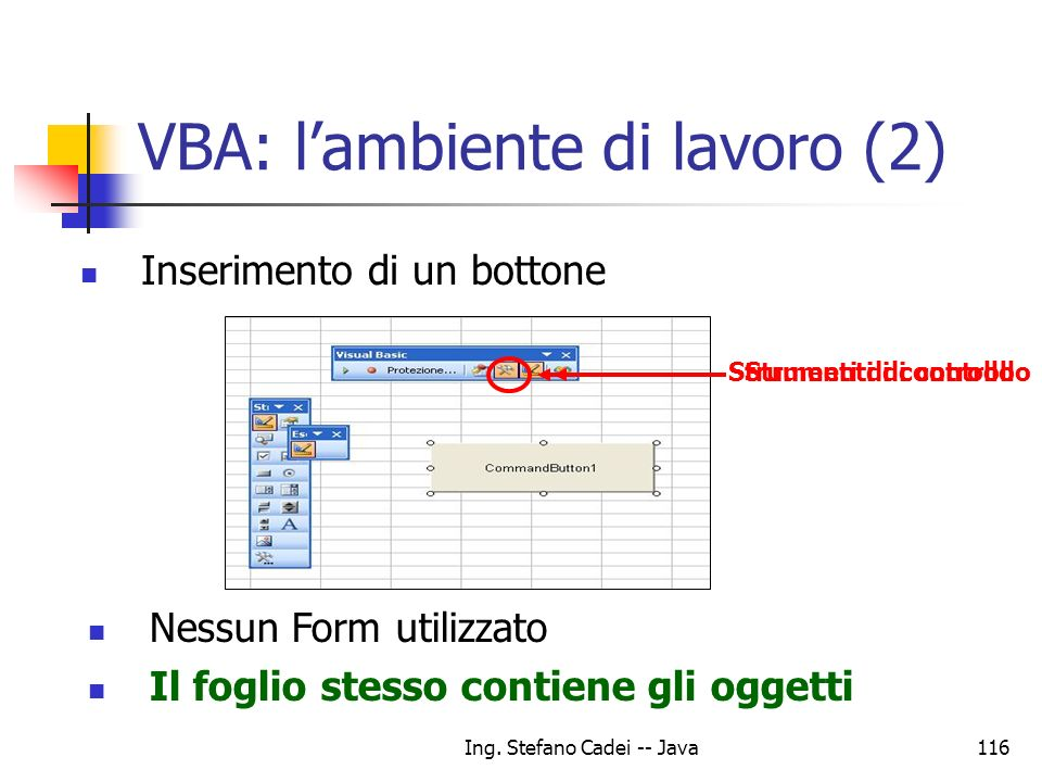 VBA: l'ambiente di lavoro (2)