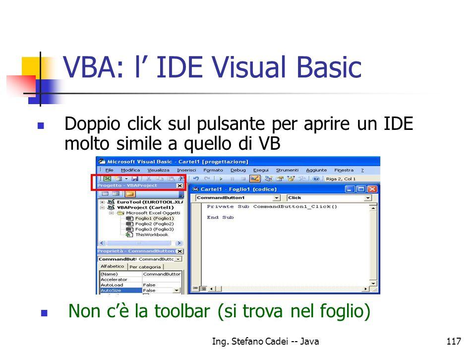 VBA: l' IDE Visual Basic