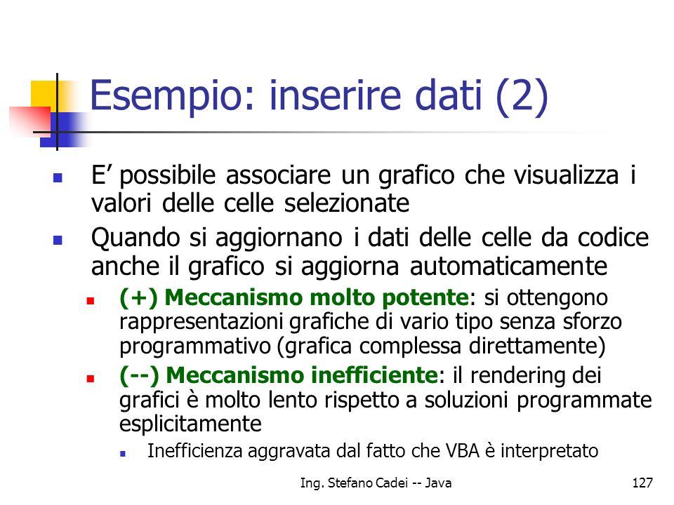 Esempio: inserire dati (2)