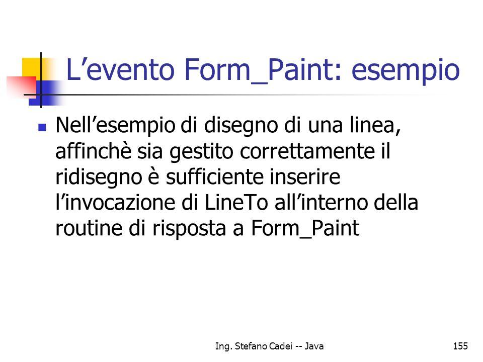 L'evento Form_Paint: esempio