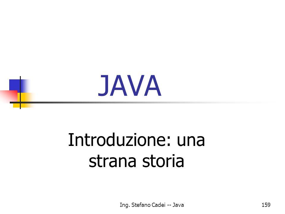 Introduzione: una strana storia