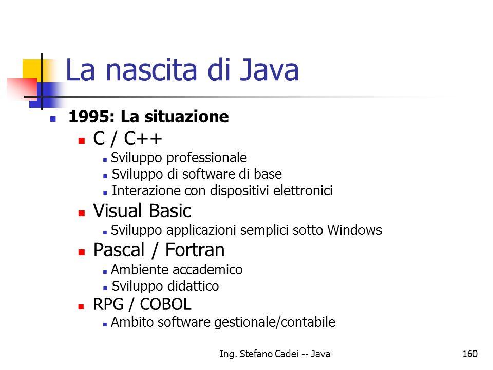 Ing. Stefano Cadei -- Java