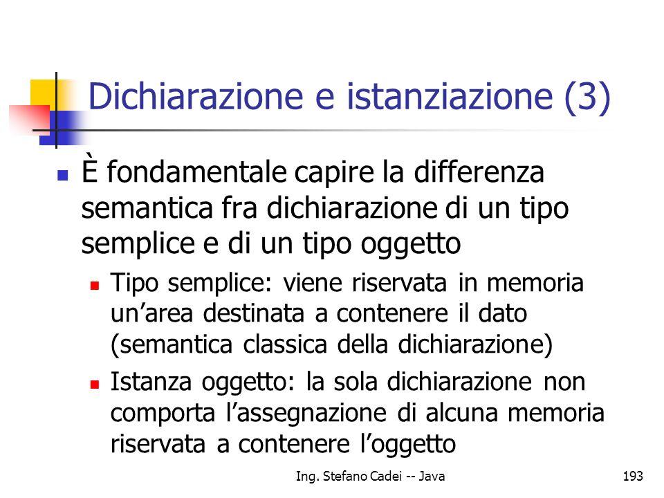 Dichiarazione e istanziazione (3)