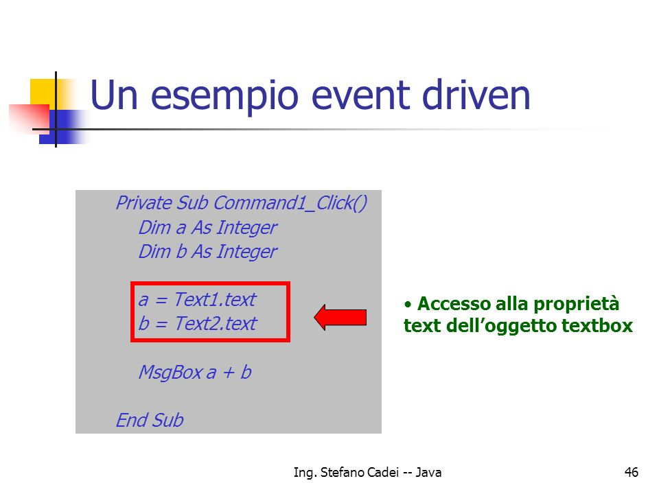 Un esempio event driven