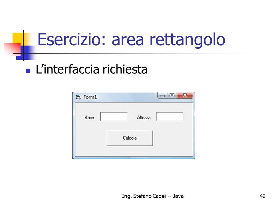 Esercizio: area rettangolo