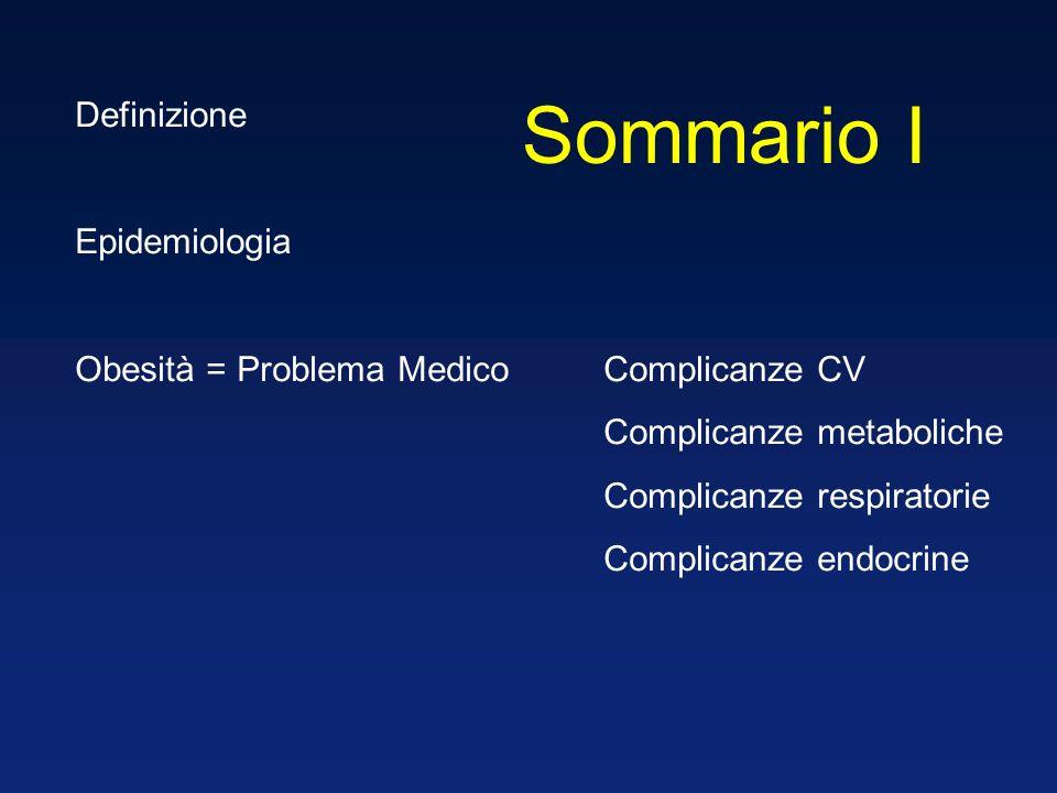 Sommario I Definizione Epidemiologia