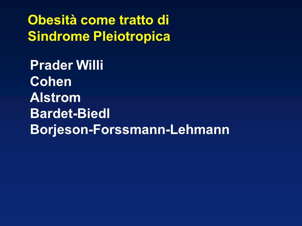 Obesità come tratto di Sindrome Pleiotropica. Prader Willi.