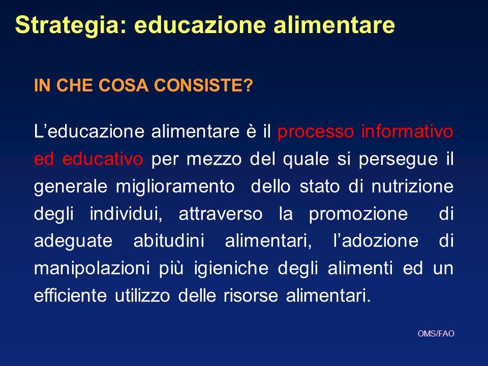 Strategia: educazione alimentare