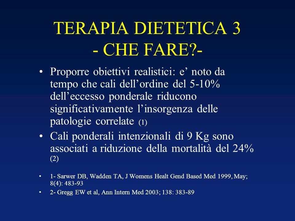 TERAPIA DIETETICA 3 - CHE FARE -