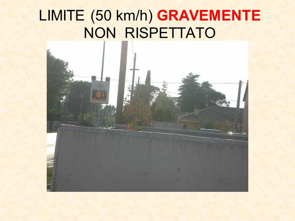 LIMITE (50 km/h) GRAVEMENTE NON RISPETTATO