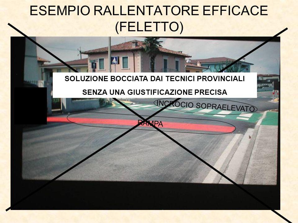 ESEMPIO RALLENTATORE EFFICACE (FELETTO)