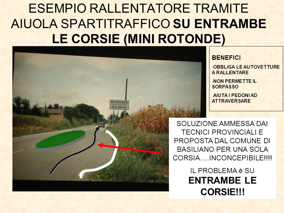 IL PROBLEMA è SU ENTRAMBE LE CORSIE!!!