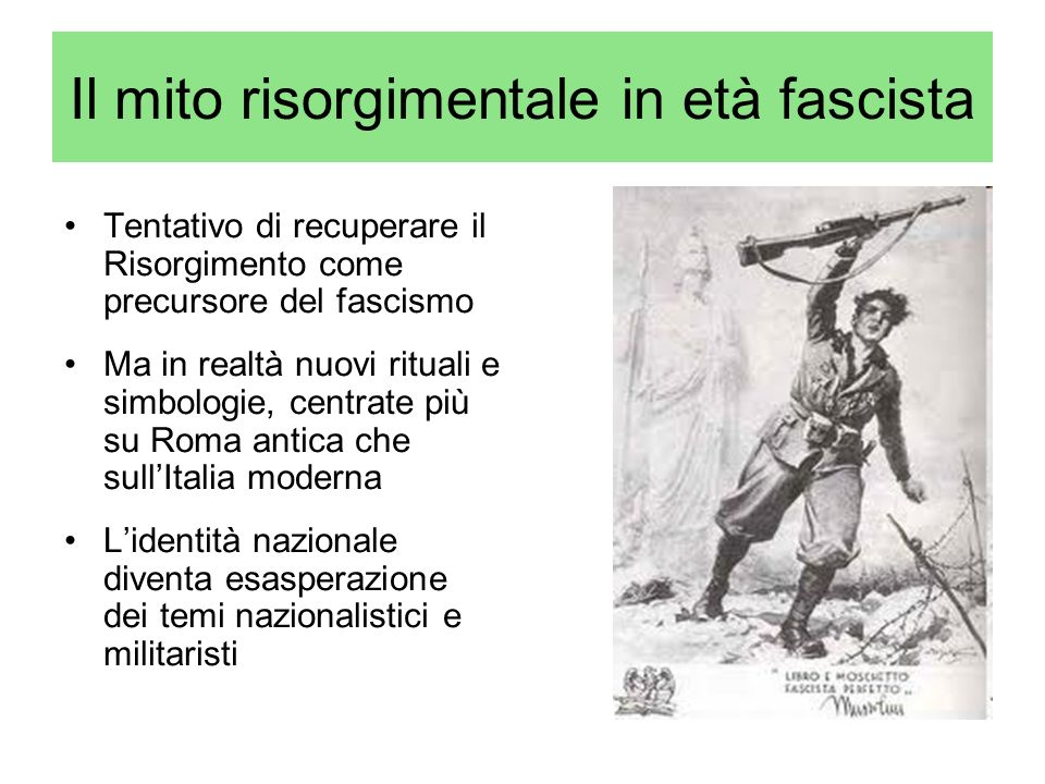 Il mito risorgimentale in età fascista