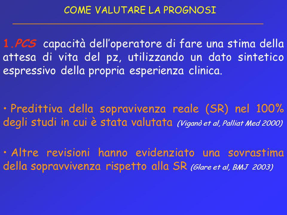 COME VALUTARE LA PROGNOSI