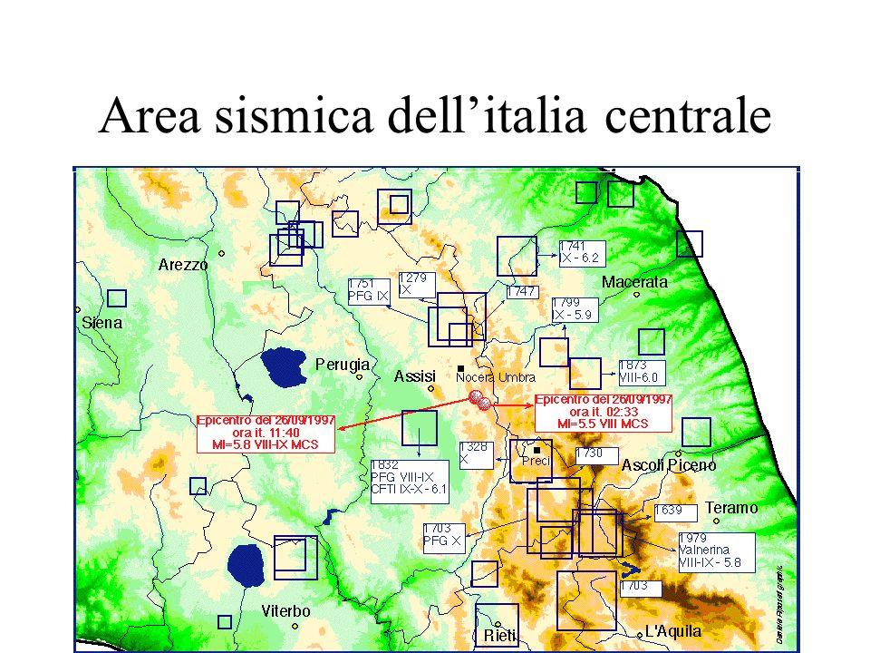 Area sismica dell'italia centrale