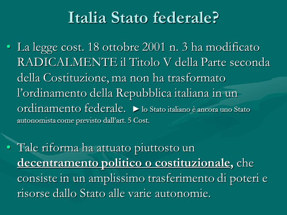 Italia Stato federale
