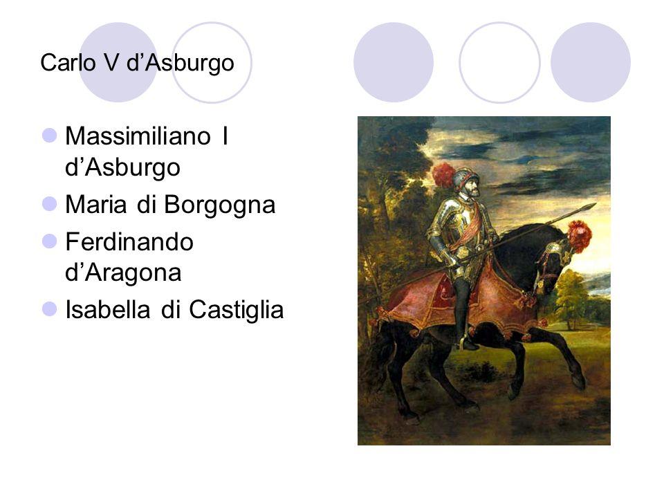 Massimiliano I d'Asburgo Maria di Borgogna Ferdinando d'Aragona