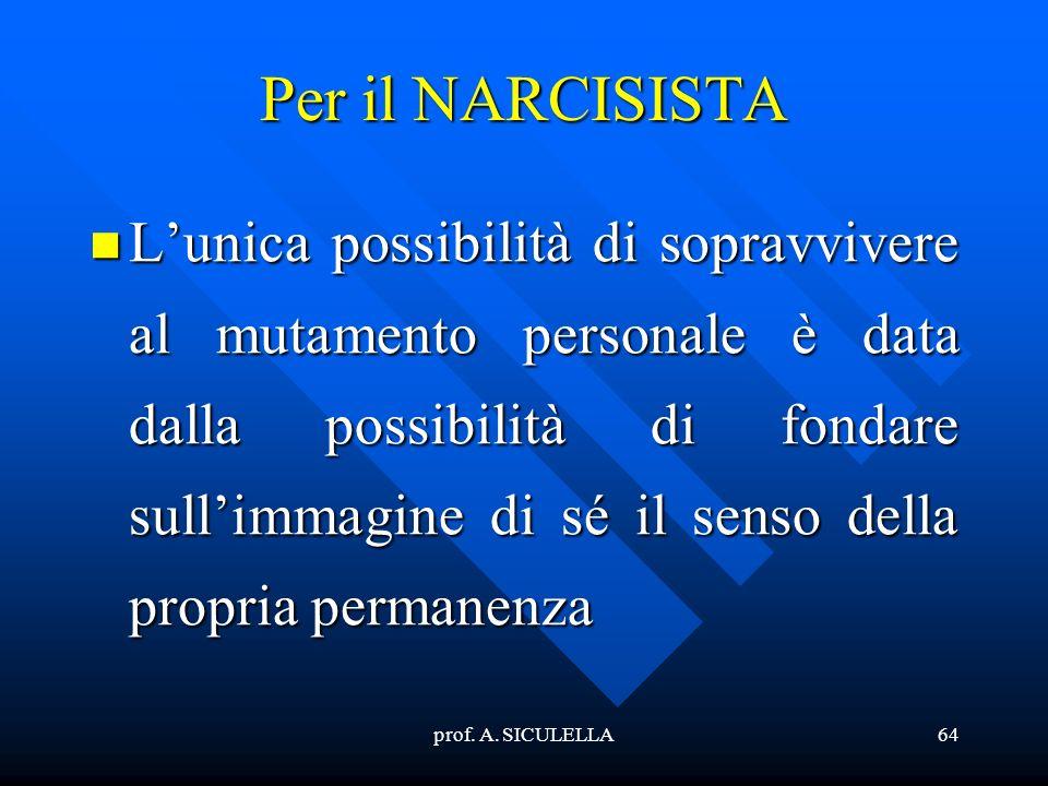 Per il NARCISISTA