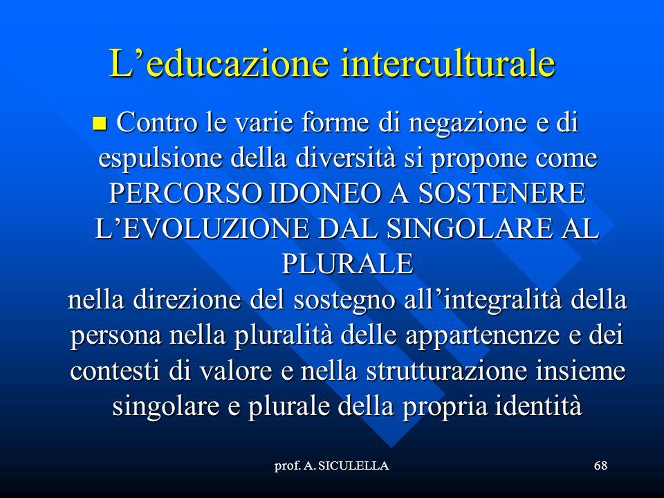 L'educazione interculturale
