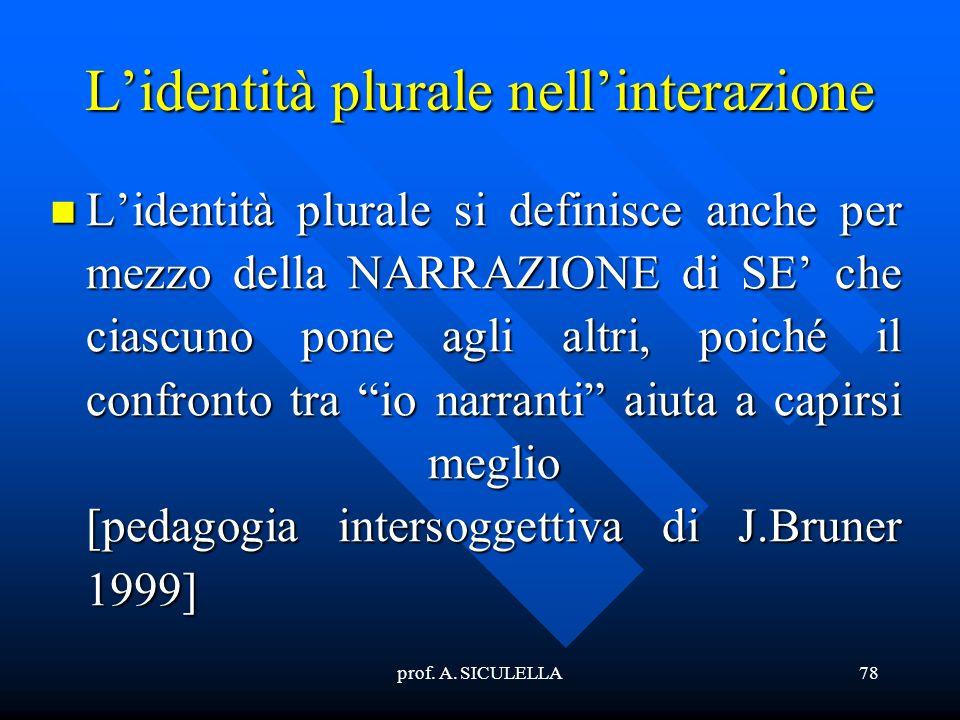 L'identità plurale nell'interazione
