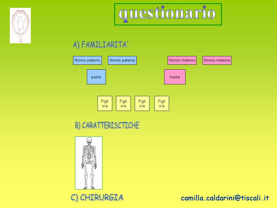 questionario camilla.caldarini@tiscali.it A) FAMILIARITA