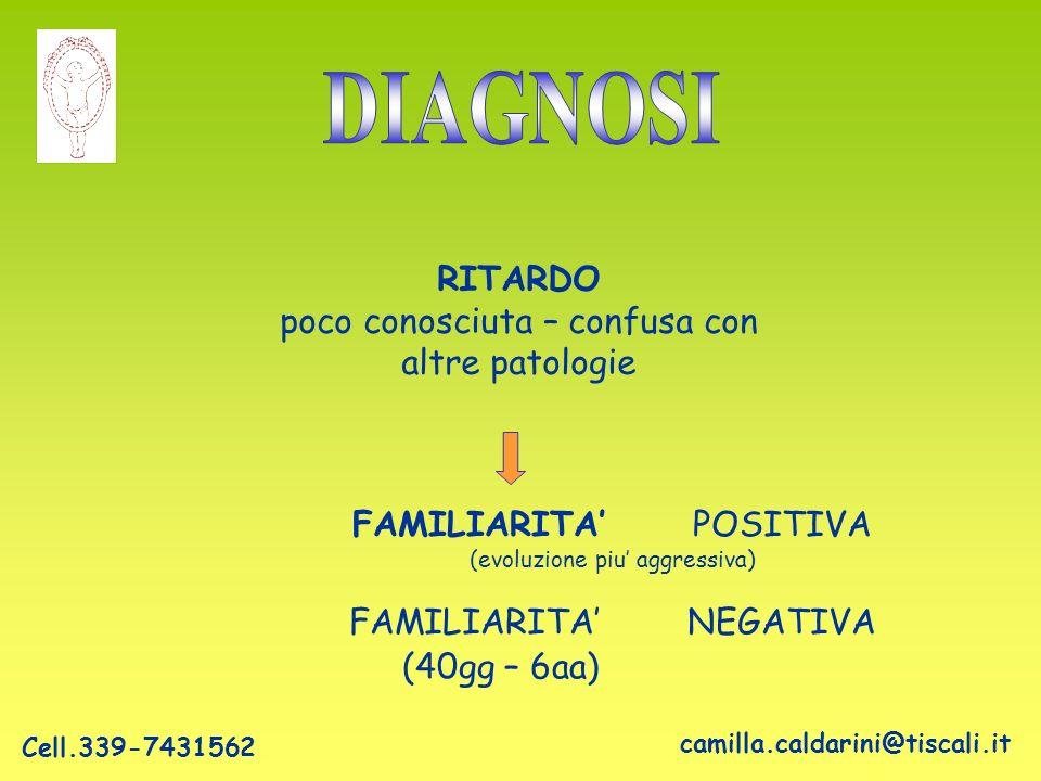 DIAGNOSI RITARDO poco conosciuta – confusa con altre patologie