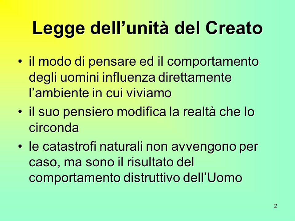 Legge dell'unità del Creato