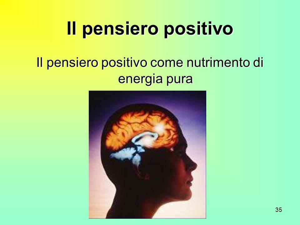 Il pensiero positivo come nutrimento di energia pura