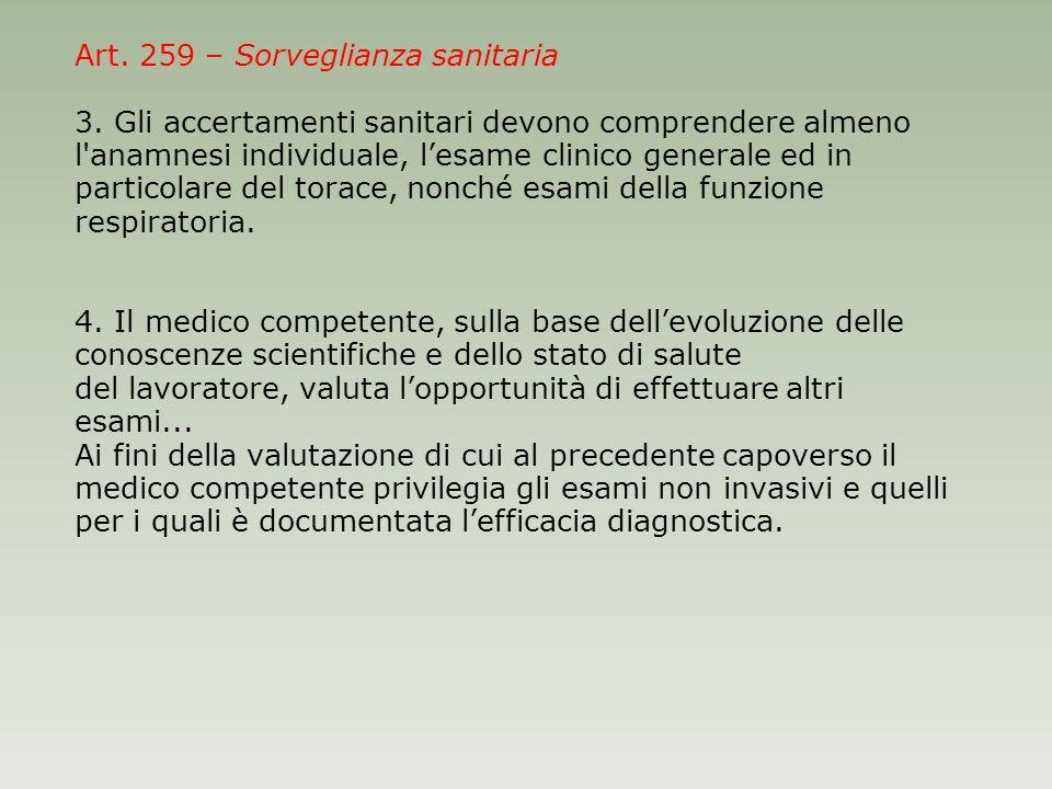 Art. 259 – Sorveglianza sanitaria 3