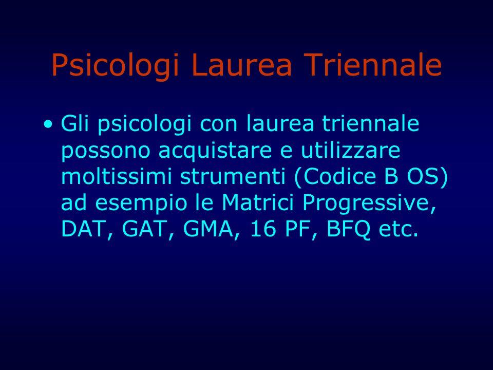 Psicologi Laurea Triennale