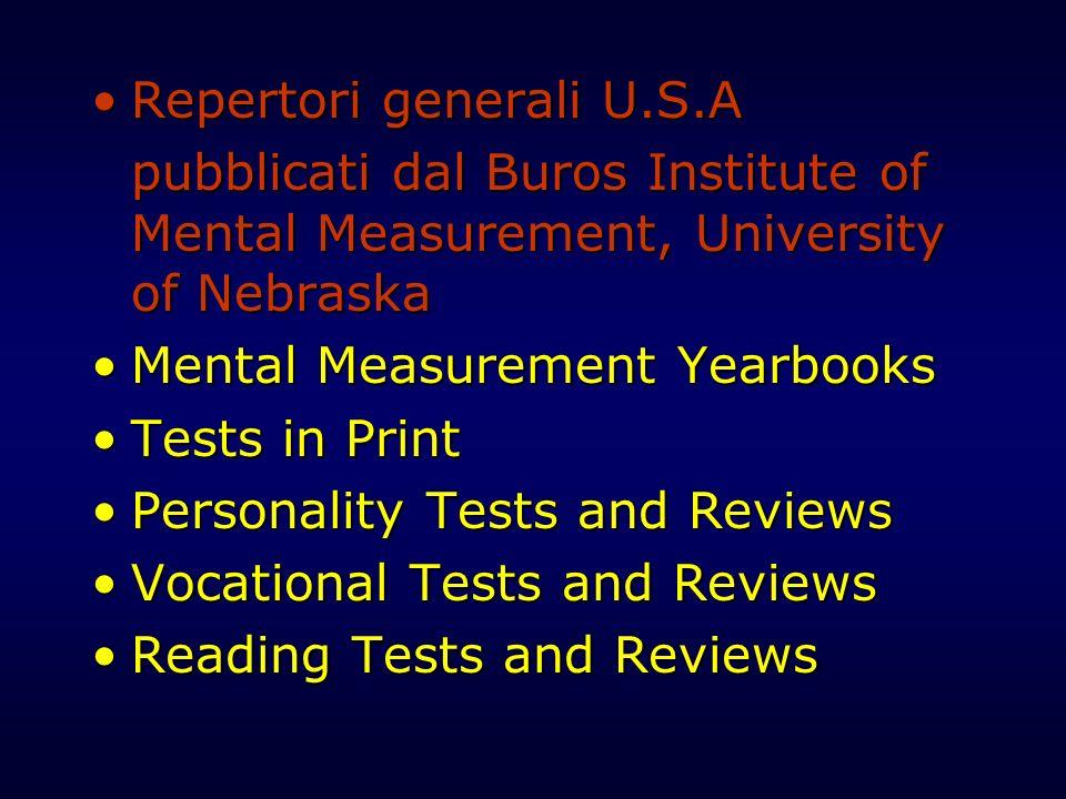 Repertori generali U.S.A