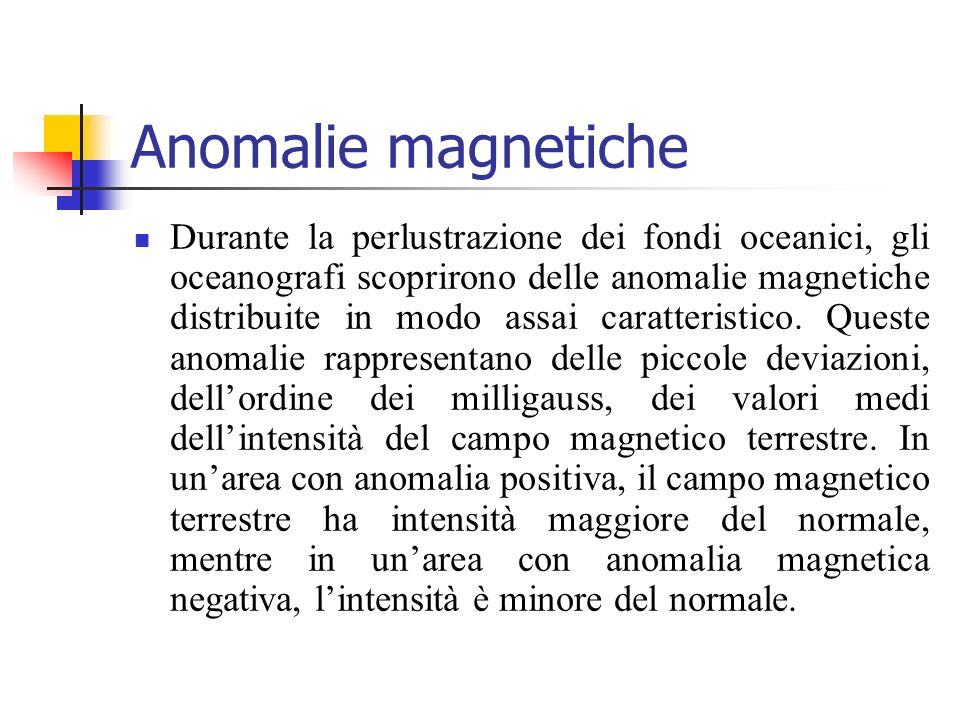 Anomalie magnetiche
