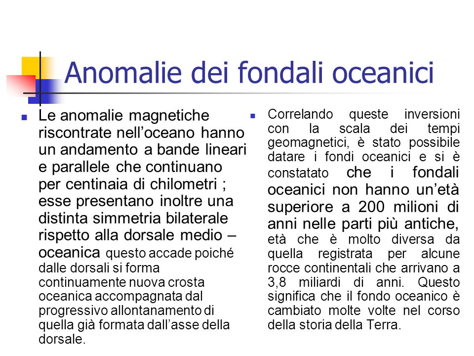 Anomalie dei fondali oceanici