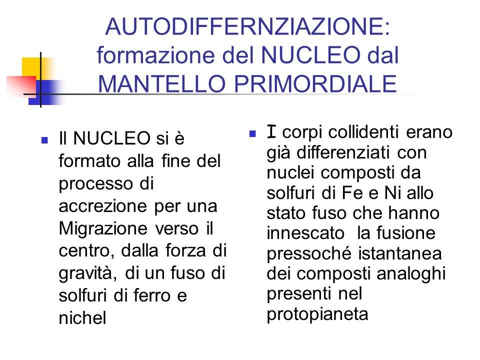AUTODIFFERNZIAZIONE: formazione del NUCLEO dal MANTELLO PRIMORDIALE