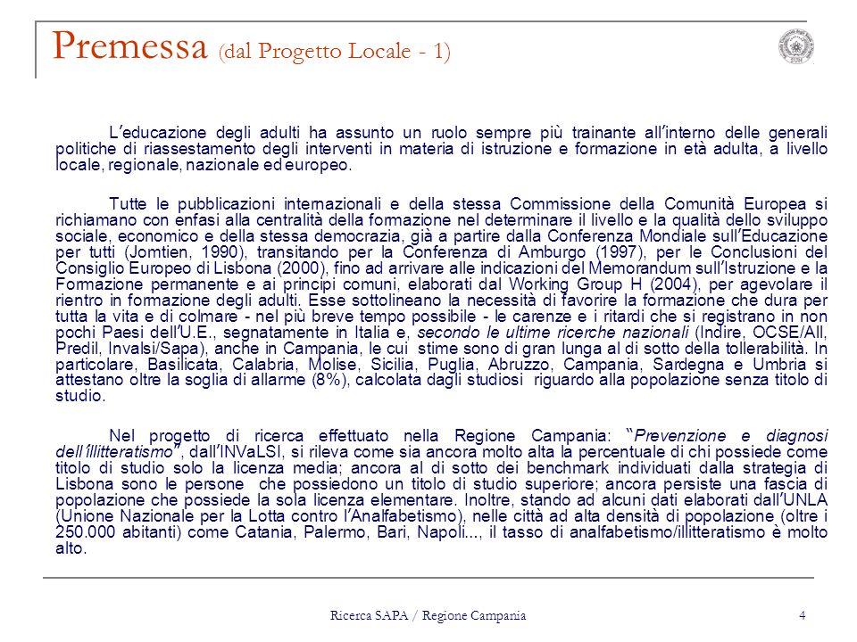 Premessa (dal Progetto Locale - 1)