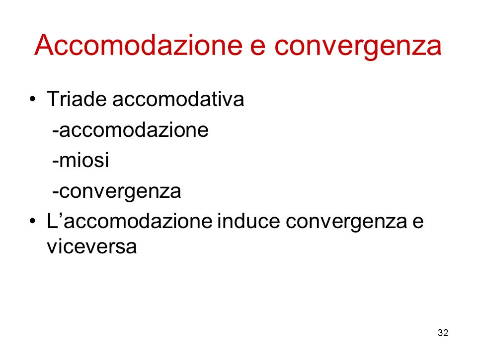 Accomodazione e convergenza