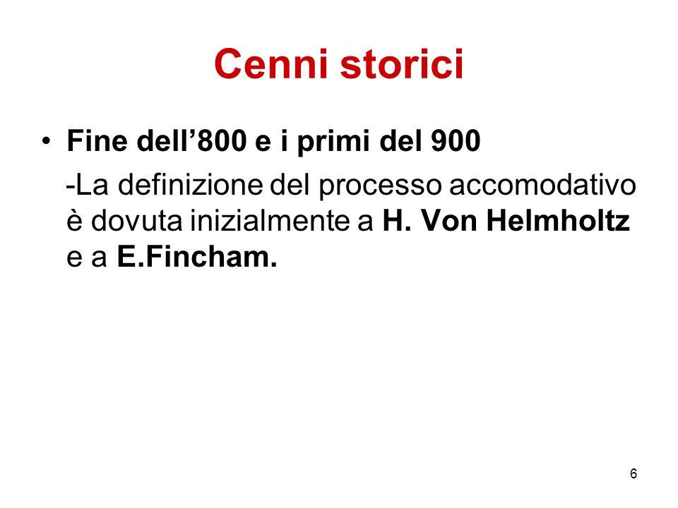 Cenni storici Fine dell'800 e i primi del 900