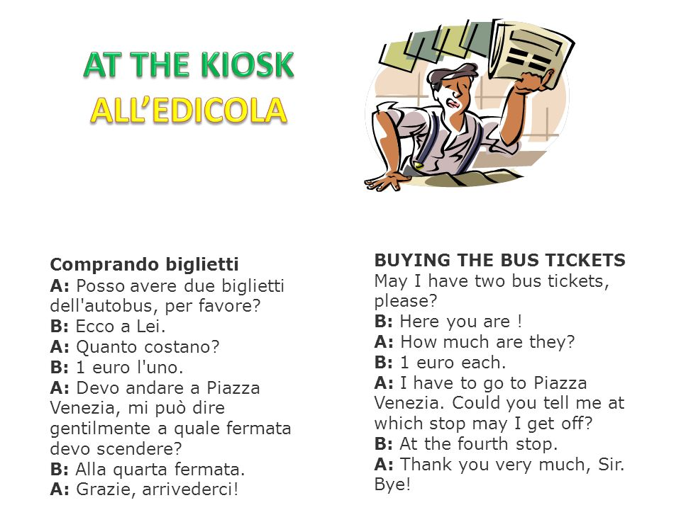 AT THE KIOSK ALL'EDICOLA