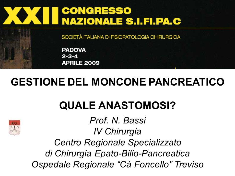 GESTIONE DEL MONCONE PANCREATICO