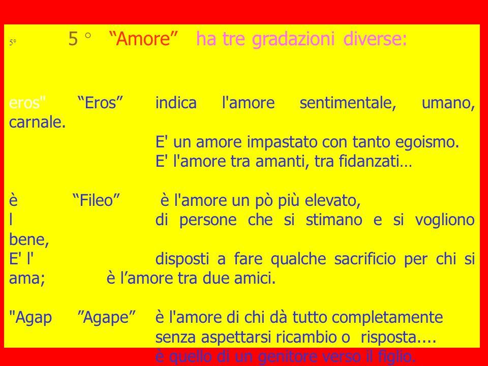 eros Eros indica l amore sentimentale, umano, carnale.