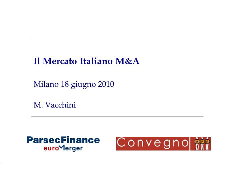 Il Mercato Italiano M&A
