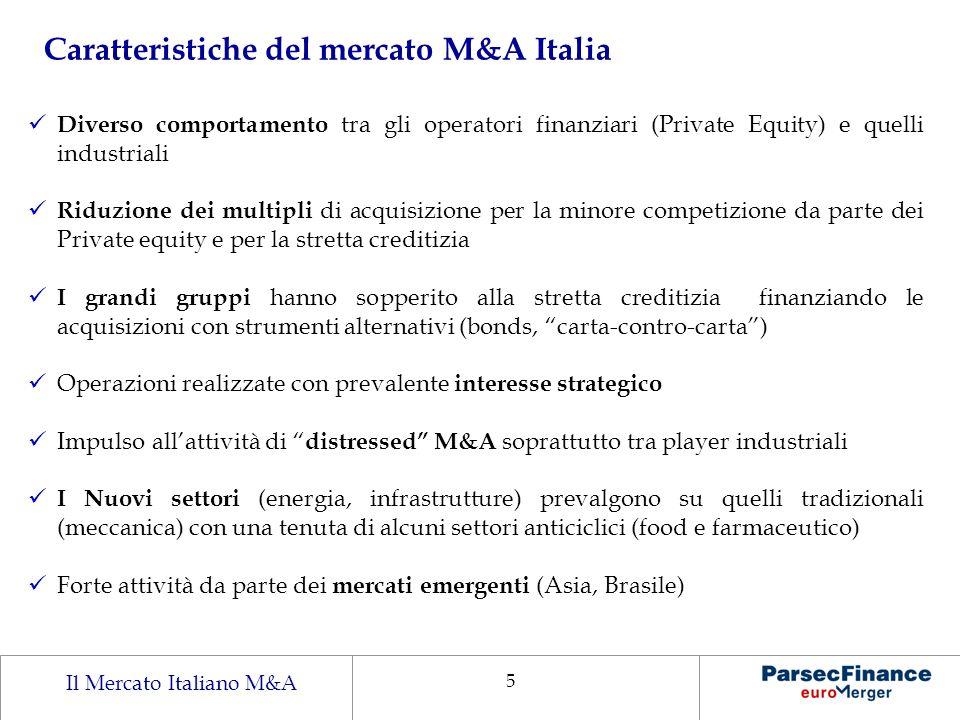 Caratteristiche del mercato M&A Italia