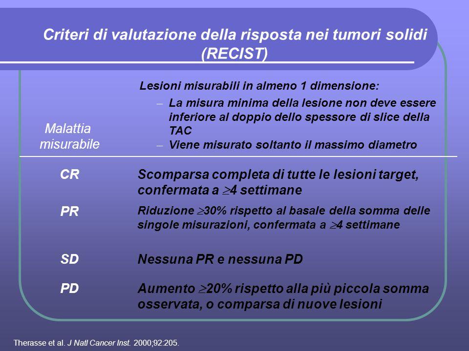 Criteri di valutazione della risposta nei tumori solidi (RECIST)