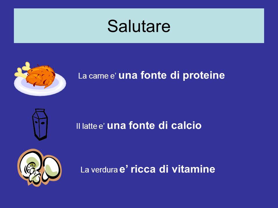 Salutare La carne e' una fonte di proteine