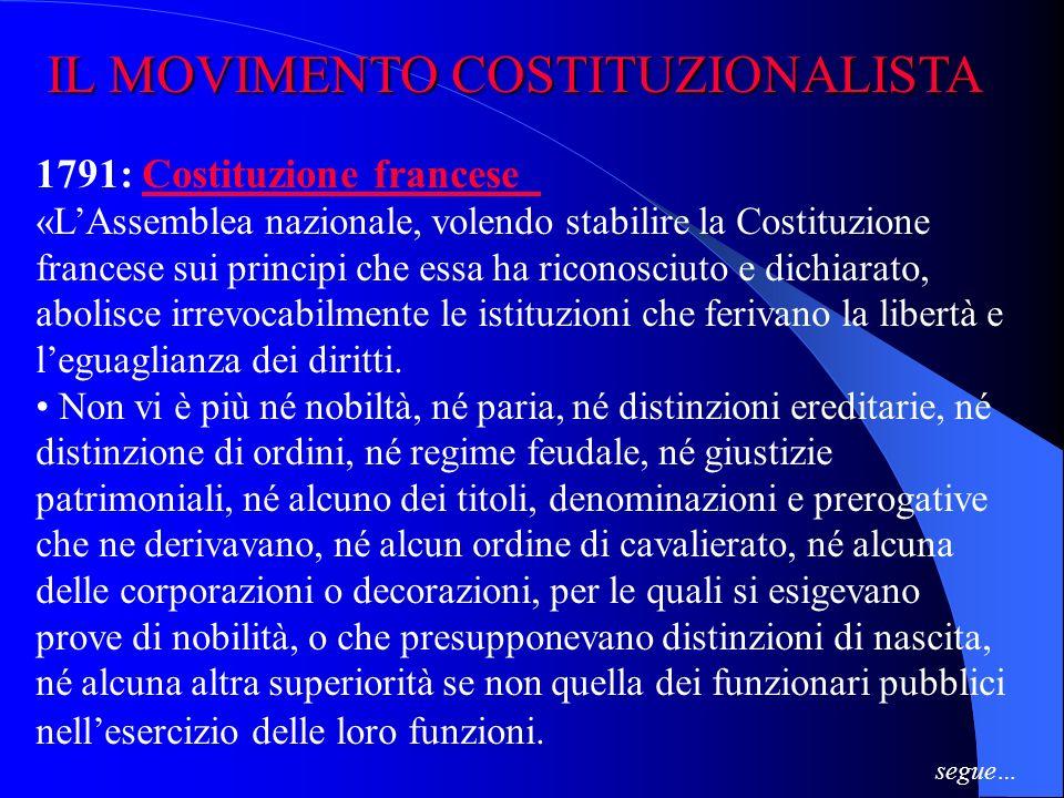 IL MOVIMENTO COSTITUZIONALISTA