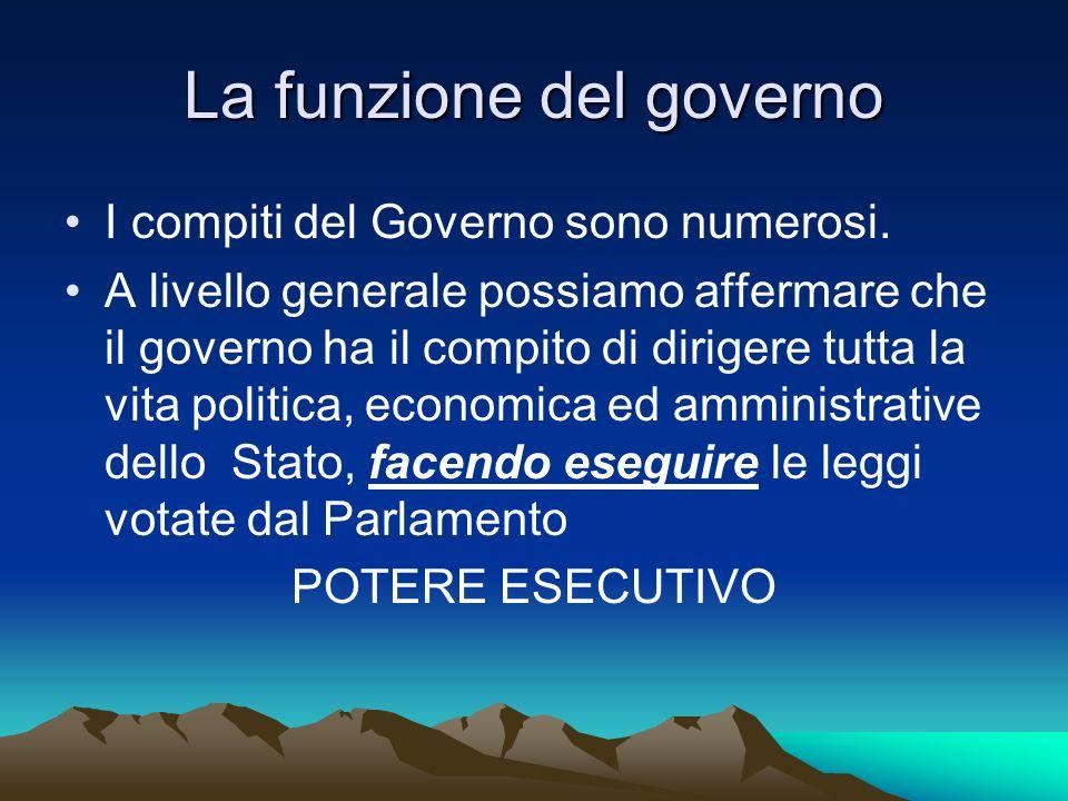 La funzione del governo