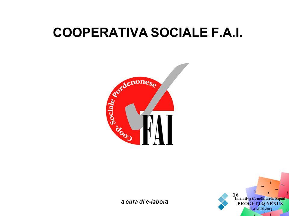 COOPERATIVA SOCIALE F.A.I.