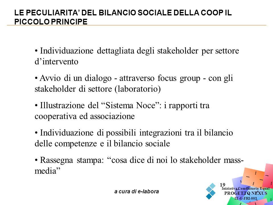 LE PECULIARITA' DEL BILANCIO SOCIALE DELLA COOP IL PICCOLO PRINCIPE