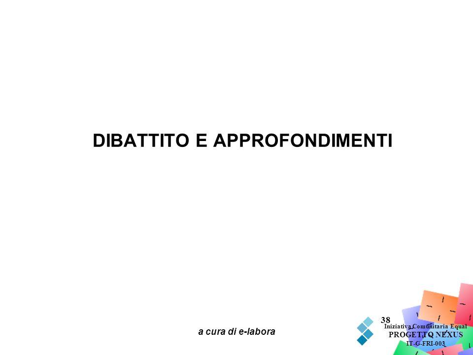 DIBATTITO E APPROFONDIMENTI